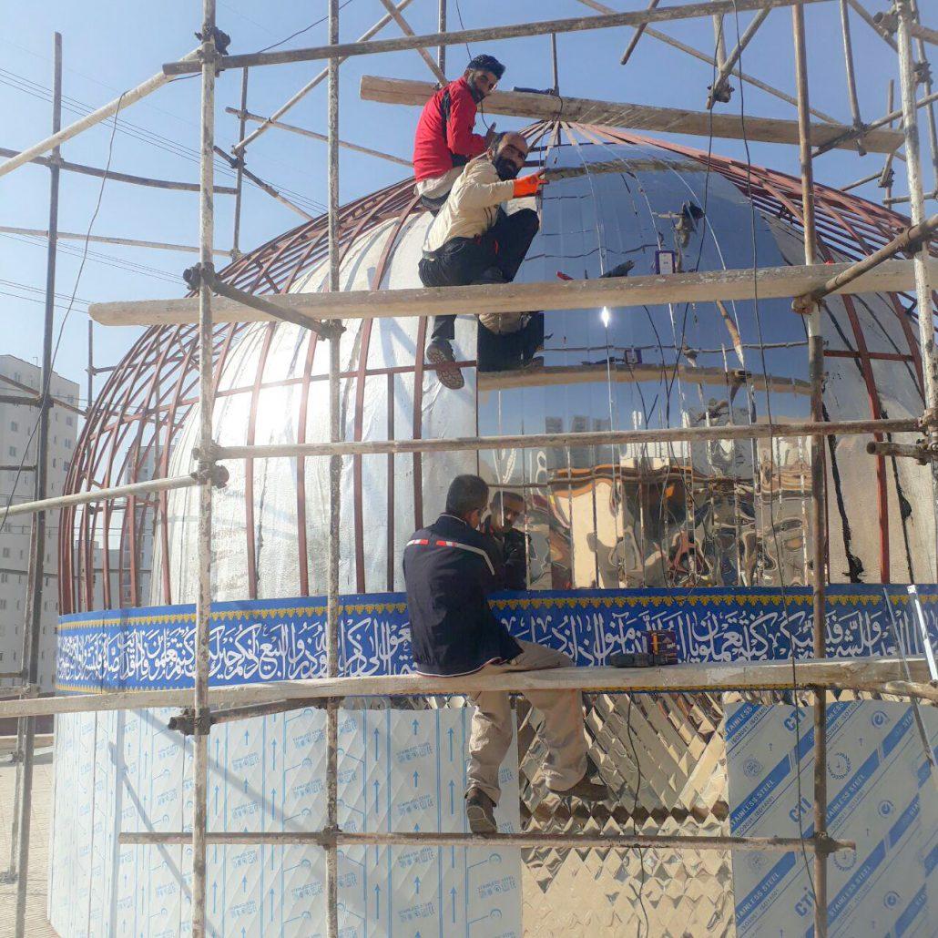 ساخت گنبد در دماوند